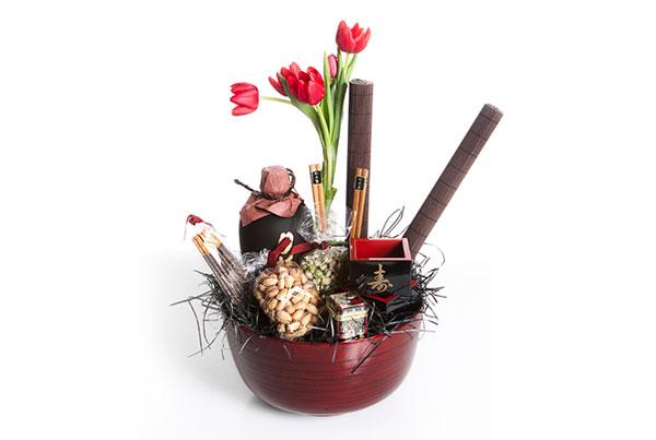 Mix Ásia com tulipas