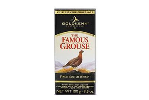 Chocolate com whisky Famous Grouse – Goldekenn – Suíça